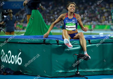 Croatia's Blanka Vlasic reacts during the women's high jump final, during the athletics competitions of the 2016 Summer Olympics at the Olympic stadium in Rio de Janeiro, Brazil