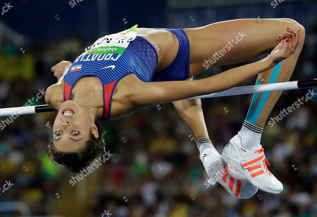 Stock Picture of Croatia's Blanka Vlasic competes in the women's high jump final, during the athletics competitions of the 2016 Summer Olympics at the Olympic stadium in Rio de Janeiro, Brazil