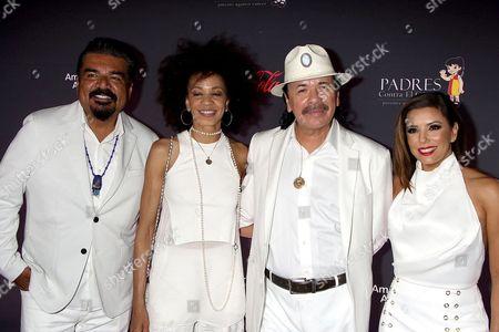 George Lopez, Cindy Blackman-Santana, Carlos Santana, Eva Longoria