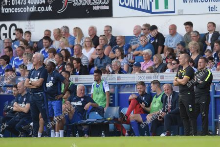 Ipswich Town Manager Mick McCarthy and Norwich City Manager Alex Neil during the Sky Bet Championship match between Ipswich Town and Norwich City played at Portman Road, Ipswich on 21st August 2016