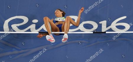 Croatia's Blanka Vlasic competes in the high jump finals during the athletics competitions of the 2016 Summer Olympics at the Olympic stadium in Rio de Janeiro, Brazil