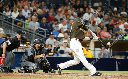 Nick Noonan San Diego Padres' Nick Noonan drives a sacrifice fly against the Arizona Diamondbacks in the seventh inning of a baseball game, in San Diego