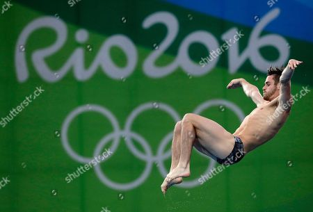 United States' David Boudia competes during the men's 10-meter platform diving final in the Maria Lenk Aquatic Center at the 2016 Summer Olympics in Rio de Janeiro, Brazil