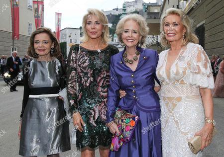 Ann Katrin Bauknecht, Princess Gabriele zu Leiningen, Isa Countess Hardenberg, Renate Thyssen-Henne