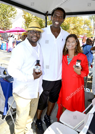Stock Picture of Bobby Brown, A.C. Green, Alicia Brown