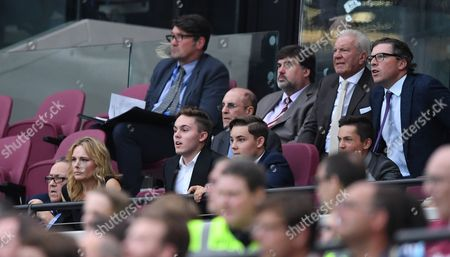 Daily Mail columnist Martin Samuel in the West Ham Directors' box during the Premier League match between West Ham United and AFC Bournemouth played at The London Stadium on 21st August 2016