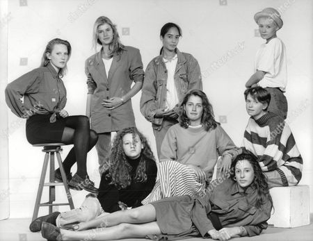 Teenage Girls Who Have Been Talent Spotted By London's Top Model Agencies. (back L-r) Tamzin Greenhill Anya Fia Court Mayumi Cabrera Lou Lou. (front L-r) Bonnie Sutton Becky Thomas Sabina Acrii And Clare Dethridge. Box 697 806071640 A.jpg.