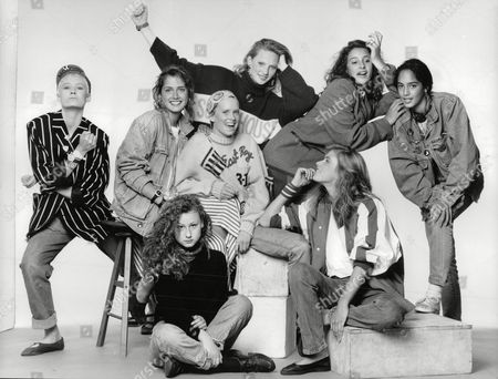 Teenage Girls Who Have Been Talent Spotted By London's Top Model Agencies. (l-r) Lou Lou Becky Thomas Clare Dethridge Tamzin Greenhill Sabina Acrii Mayumi Cabrera. (front L-r) Bonnie Sutton And Anya Fia Court Box 697 806071641 A.jpg.