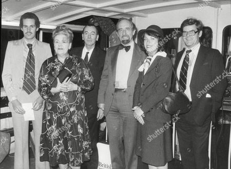 Stock Image of (l-r): Christopher Wilkinson Mrs Florence Homewood Desmond Barber Horace Cutler Leader Of G.l.c. Angela Luetchford Miss British Airways And David Henshall Of The Evening News. Floodcall Competition. Box 698 813071688 A.jpg.