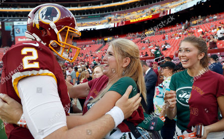 Nate Sudfeld, Michelle Sudfeld Washington Redskins quarterback Nate Sudfeld (2) greets his mother, Michelle Sudfeld, from Modesto, Calif., before an NFL preseason football game, in Landover, Md. Michelle Sudfeld has two sons, Nate and New York Jets tight end Zach Sudfeld, at the game