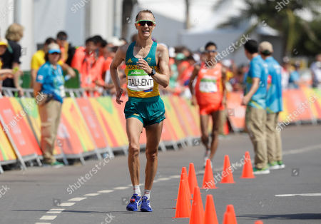 Jared Tallent, of Australia, finished second in the men's 50-km race walk at the 2016 Summer Olympics in Rio de Janeiro, Brazil