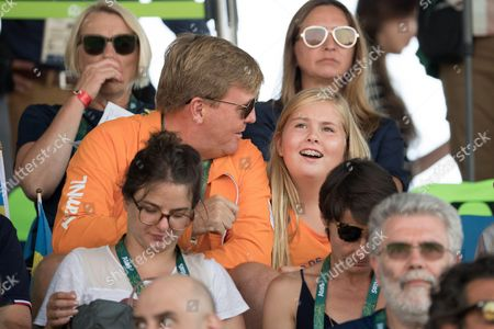Crown Princess Catharina-Amalia and King Willem-Alexander of The Netherlands attend round 2 of the Equestrian Jumping at the Olympic Equestrian Centre during the Rio 2016 Olympic Games in Rio de Janeiro,