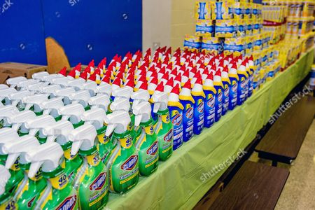 Clorox Clorox® products at the Clorox Back-To-School Pop-up Shop at the Andrew Hamilton School on  in Philadelphia. Clorox® simplifies the back-to-school shopping experience for students and teachers through a free school supply pop-up shop