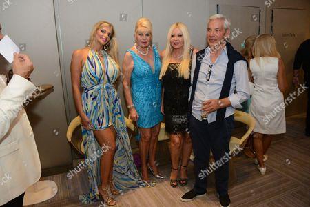 Stock Photo of Francesca Cipriani, Ivana Trump, Monika Bacardi, David Reuben