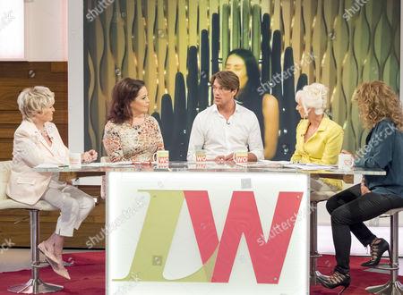 Gloria Hunniford, Lisa Riley, Lewis Bloor, Debbie McGee and Nadia Sawalha