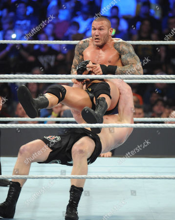 Stock Photo of Brock Lesnar and Randy Orton