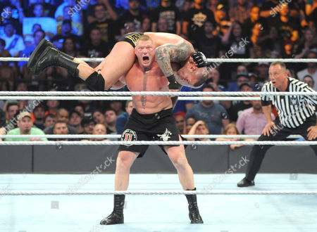 Stock Image of Brock Lesnar and Randy Orton
