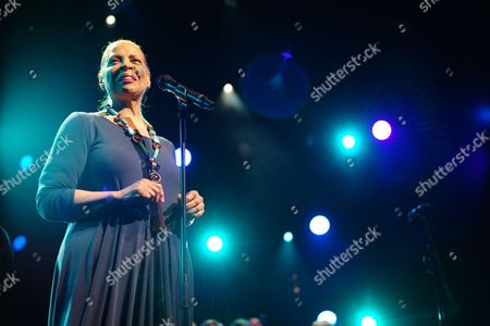 Patti Austin on stage during the 50th Montreux Jazz Festival