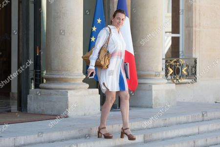 Stock Photo of French junior minister for the Digital Sector, Axelle Lemaire leaves after the weekly cabinet meeting at Elysee Palace
