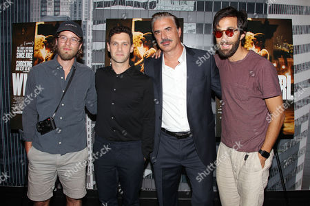 Henry Joost, Justin Bartha, Chris Noth and Rel Schulman
