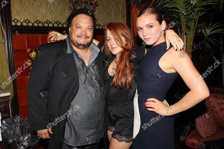 Adrian Martinez, Elizabeth Wood (Director) and Morgan Saylor