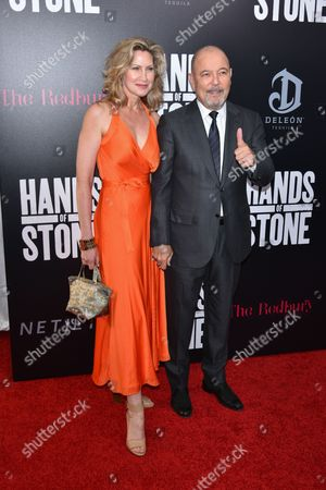 Stock Image of Ruben Blades and wife Luba Mason