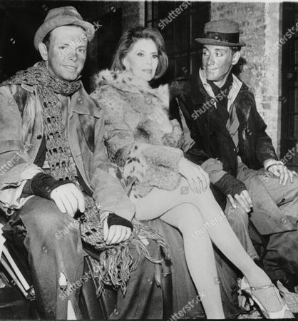 Editorial image of Dancer Cyd Charisse With Duncan Miller (l) And David Titlow Members Of 'blue Mercedes' A Two-man Pop Group. Box 697 110607162 A.jpg.
