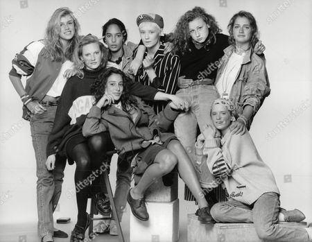 Teenage Girls Who Have Been Talent Spotted By London's Top Model Agencies. (back L-r) Anya Fia Court Tamzin Greenhill Mayumi Cabrera Lou Lou Bonnie Sutton Becky Thomas. (front L-r) Sabina Acrii And Clare Dethridge. Box 697 806071639 A.jpg.