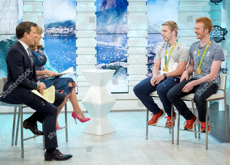 Stock Picture of Ben Shephard and Kate Garraway with Phil Hindes and Ed Clancy