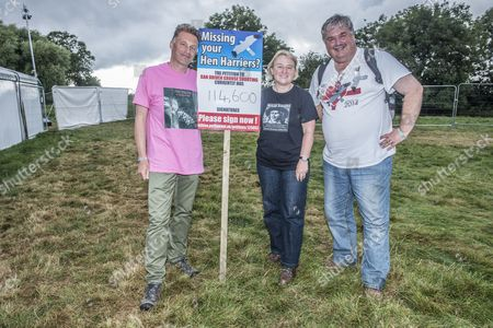 BBC wildlife presenter Chris Packham who is co-ordinating a campaign with Dr Mark Avery a prominent UK conservationist to ban driven grouse shooting in Uk uplands and Natalie Bennett head of Green party UK