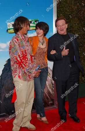 Stock Picture of Cody Williams, Zelda Williams and Robin Williams