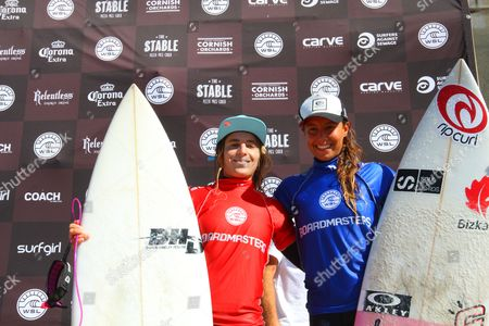 Stock Photo of Overall winner Claire Bevilacqua from Australia and Runner-up Ariane Ochoa EUK (Basque).