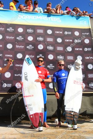 Overall winner Shane Campbell from Australia and runner-up Angelo Bonomelli from Italy