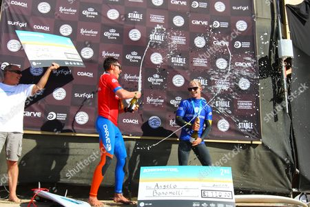 Stock Picture of Overall winner Shane Campbell from Australia and runner-up Angelo Bonomelli from Italy