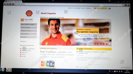 Stock Image of website of Shell España