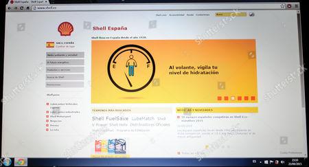 Stock Photo of website of Shell España