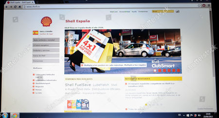 Stock Picture of website of Shell España