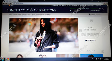 website of United Colors of Benetton