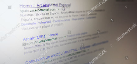 The website of ArcelorMittal