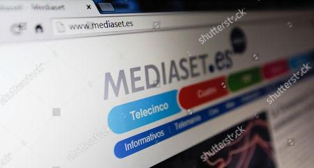 The website of Mediaset