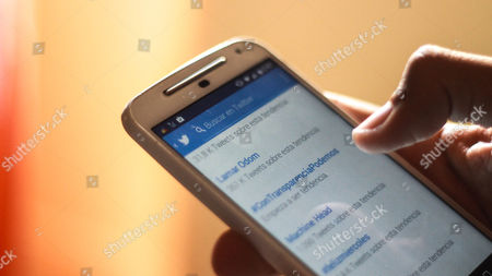 Stock Image of The application of Twitter