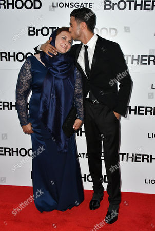 Fady Elsayed and his mum
