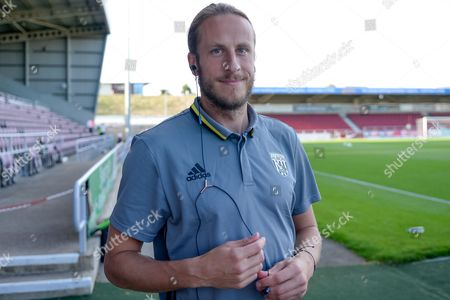 West Bromwich Albion defender Jonas Olsson (3) during the EFL Cup match between Northampton Town and West Bromwich Albion at Sixfields Stadium, Northampton