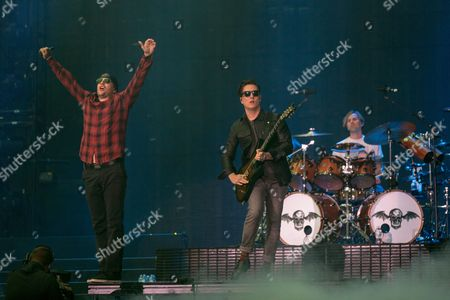 Avenged Sevenfold - M Shadows (Matthew Sanders), Synyster Gates (Brian Haner, Jr.) and Brooks Wackerman