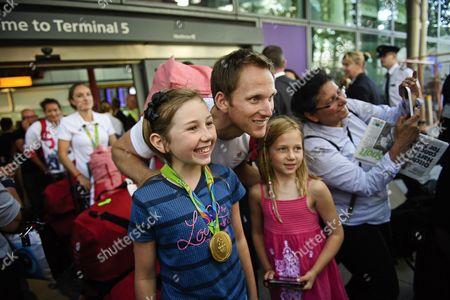 Editorial photo of Rio 2016 Olympic Games Team GB Homecoming Heathrow Airport, London, United Kingdom - 23 Aug 2016