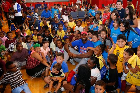 Andre Drummond Detroit basketball player Andre Drummond with local children during JetBlue's Soar with Reading event at The Matrix Center, in Detroit. JetBlue's Soar with Reading installed five custom book vending machines to distribute free books to children in Detroit all summer long
