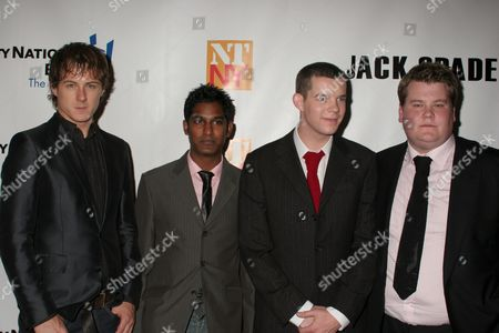 Andrew Knott, Rudi Dharmalingam, Russell Tovey and James Corden