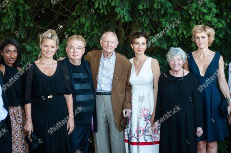 Audrey Azoulay, Sara Martins, Virginie Efira, Gilles Jacob and Dominique Besnehard