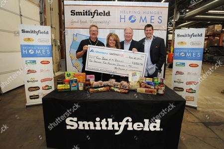 Editorial picture of Smithfield Helping Hungry Homes nationwide hunger relief tour, Denver, USA - 23 Aug 2016