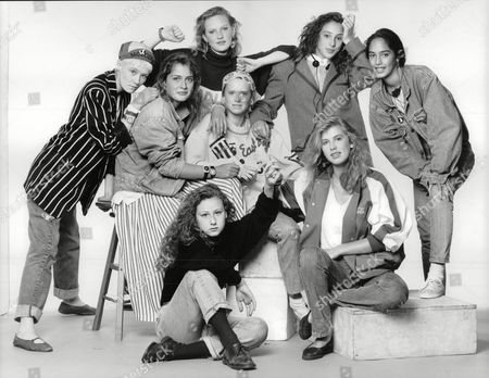 Teenage Girls Who Have Been Talent Spotted By London's Top Model Agencies. (l-r) Lou Lou Becky Thomas Tamzin Greenhill (back) Clare Dethridge Sabina Acrii And Mayumi Cabrera. (front L-r) Bonnie Sutton And Anya Fia Court. Box 697 806071637 A.jpg.